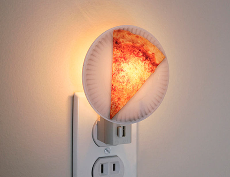 Realistic pizza lamps night light design for Night light design