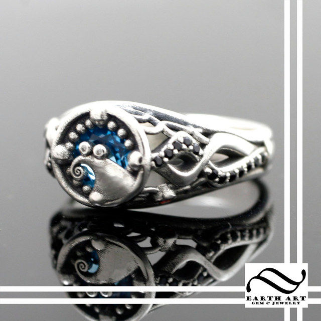 movie inspired engagement rings - Nightmare Before Christmas Wedding Bands