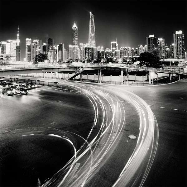 Grayscale Nocturnal Skylines : nightscapes by martin stavars