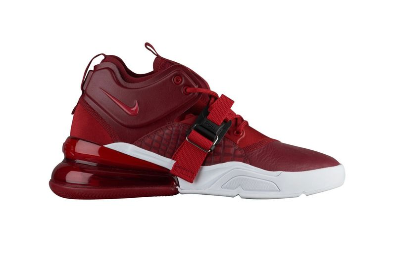 Red Crocodile Printed Sneakers : Nike Air Force 270