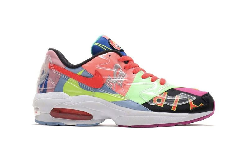 fd1660317d Vibrant Collage-Like Sneakers : Nike Air Max2 Light
