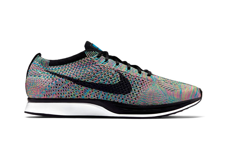 e3069c287ddb Rainbow Running Shoes   Nike Flyknit Racer Multicolor