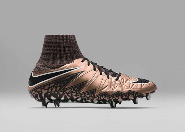 Metallic-Colored Soccer Boots
