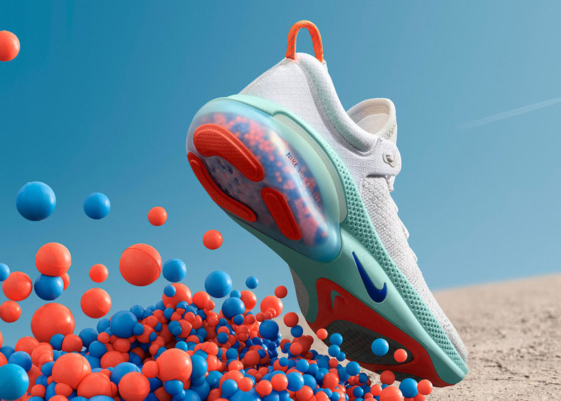 Bead-Cushioned Sneakers
