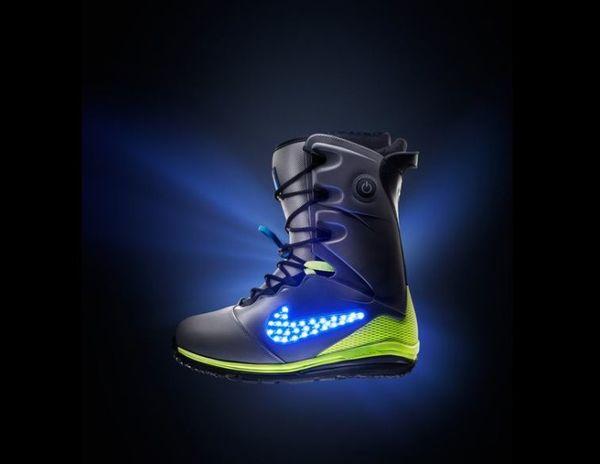 Illuminating Snowboard Boots