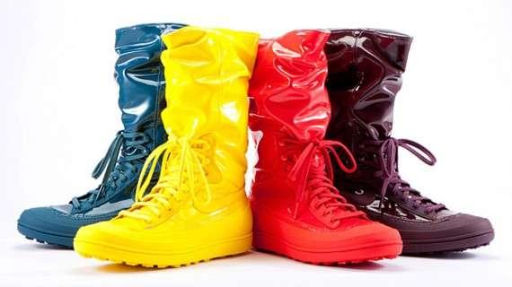 Sporty Rainbow Rain Boots