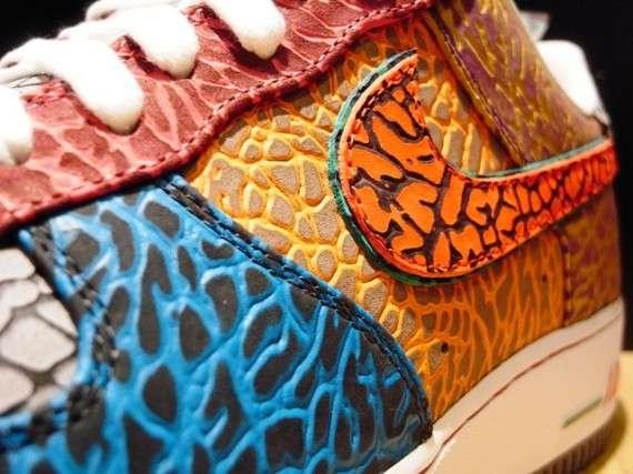 Cracked Skin Sneakers
