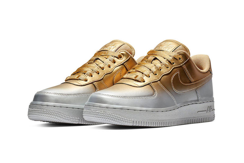 Entirely Metallic Gradient Sneakers