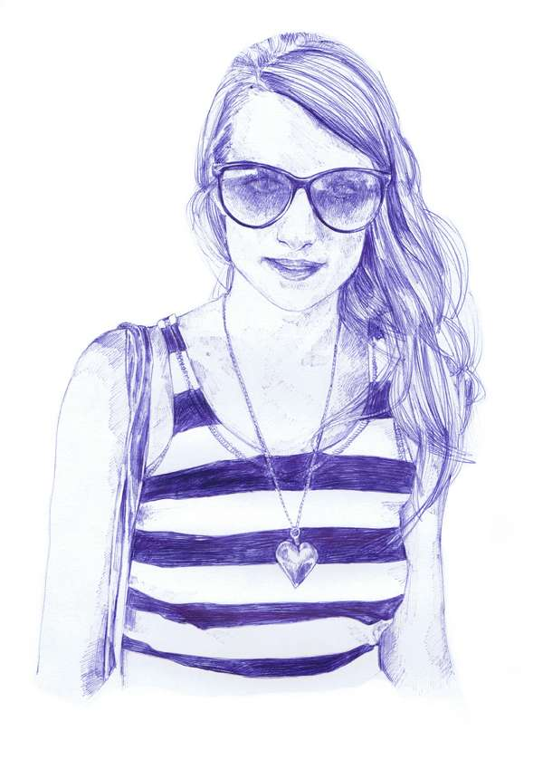 Ballpoint Babe Illustrations