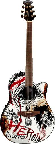 """""""The Heroin Diaries"""" Guitar"""