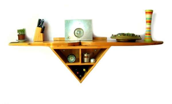Two-Armed Triangular Shelves