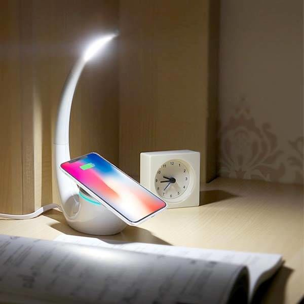 Sculptural Qi-Enabled Lamps