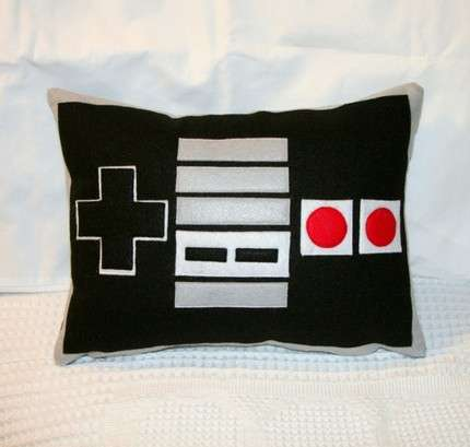 Retro Gamer Cushions Nintendo Controller Pillow