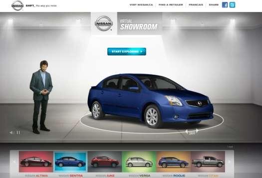 Corporate Car Online: Digital Auto Exhibits : Nissan Canada Virtual Showroom