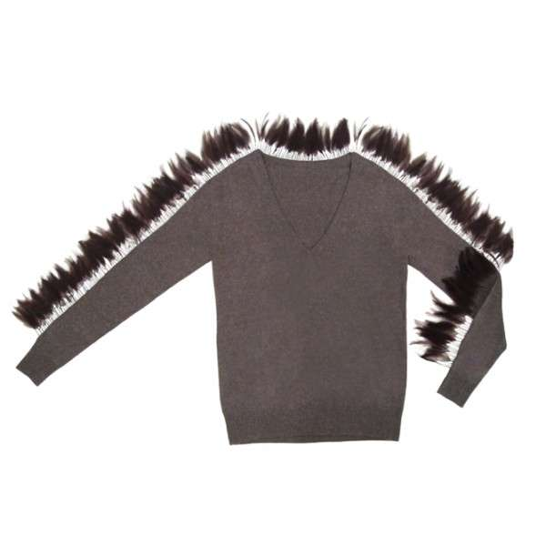 Fashionably Feathered Sweaters