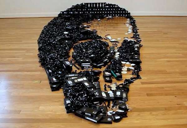Skeletal VHS Sculptures