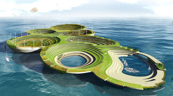 Self-Sustainable Floating Cities