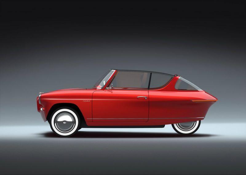 Retro Three-Wheeled Electric Cars
