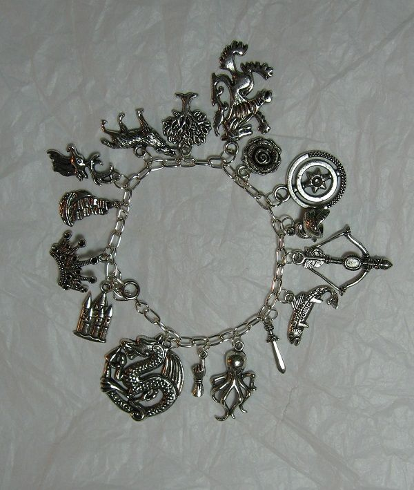 Fantasy-Themed Charm Bracelets