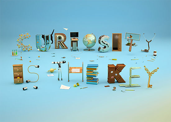 Curiosity-Encouraging Typography