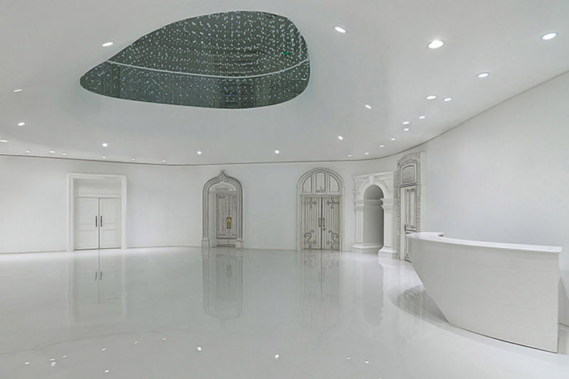 White-Washed Clubhouse Interiors