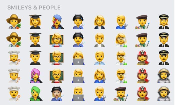 Non-Binary Inclusive Emojis
