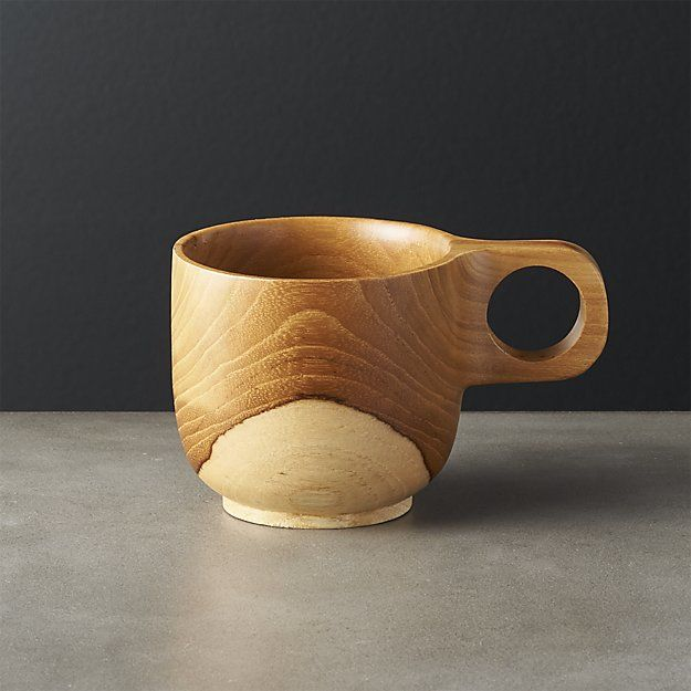 Teak Wood Tea Cups