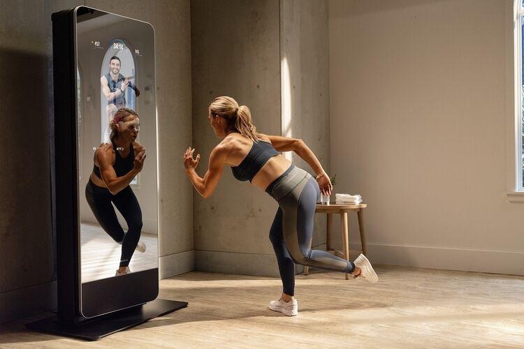 Equipment-Holding Fitness Mirrors