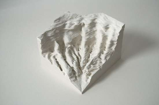 Stacked paper carvings noriko ambe