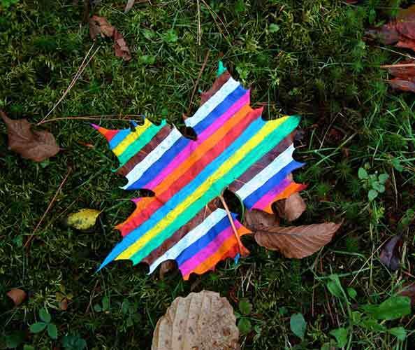 Psychedelic Leaf Art