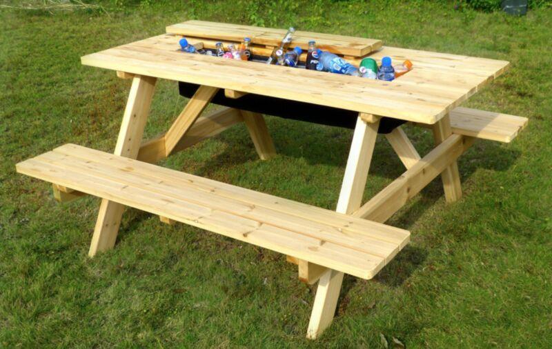Hidden Cooler Picnic Tables