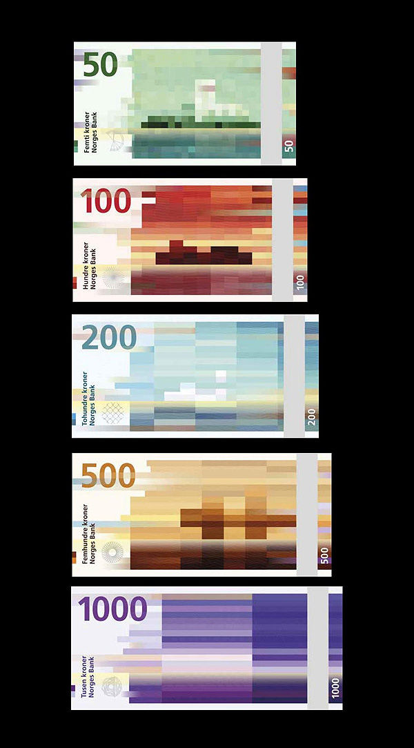 Pixelated Banknote Makovers