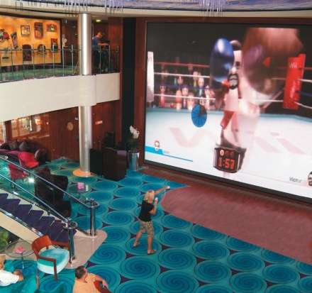 Norwegian Cruise Lines Adds Big-Screen Wii