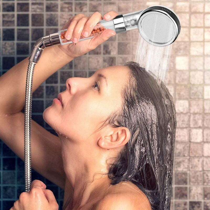 Hair-Supporting Shower Heads