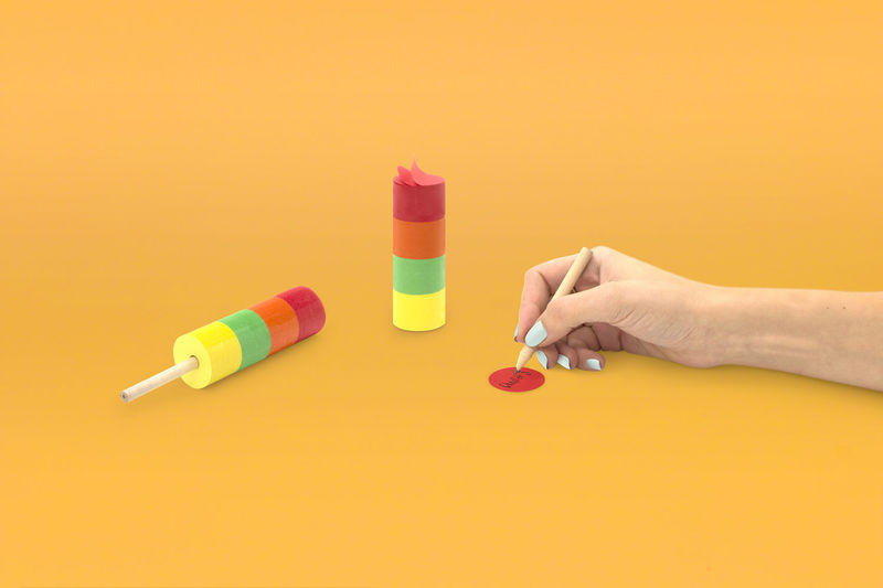 Popsicle-Shaped Sticky Notes