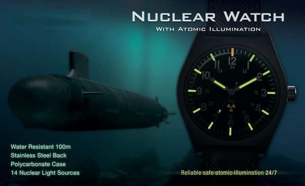 Nuclear Fission-Fueled Wristwatches
