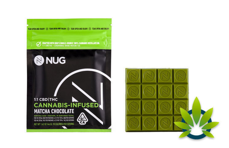 Cannabis-Rich Matcha Chocolates