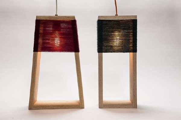 Yarn-Wrapped Lighting