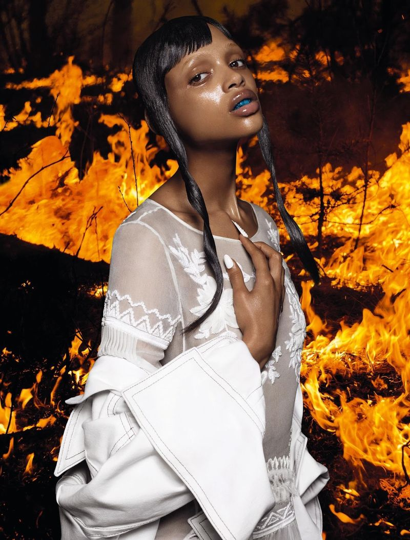 Fiery Futuristic Editorials