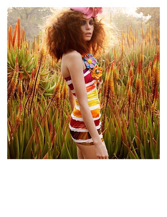 Floral Polaroid Editorials