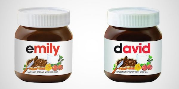 Personalized Spread Packaging Nutella Jars