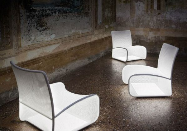 Meshy Illuminating Loungers
