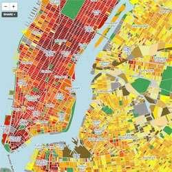 Measured Metropolis Topography