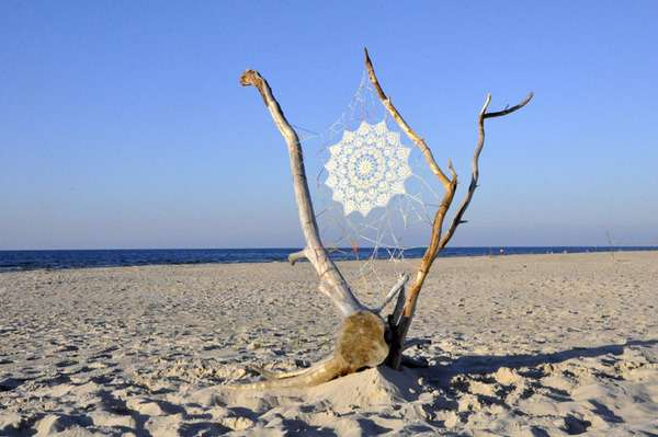 Webbed Beach Art