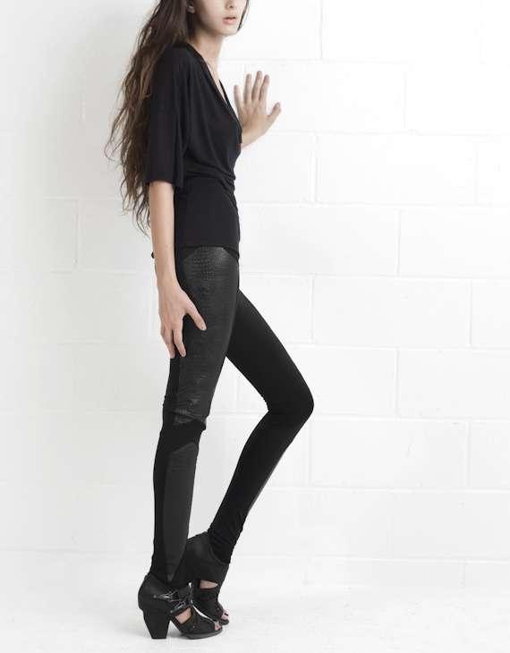 Wild Paneled Legwear