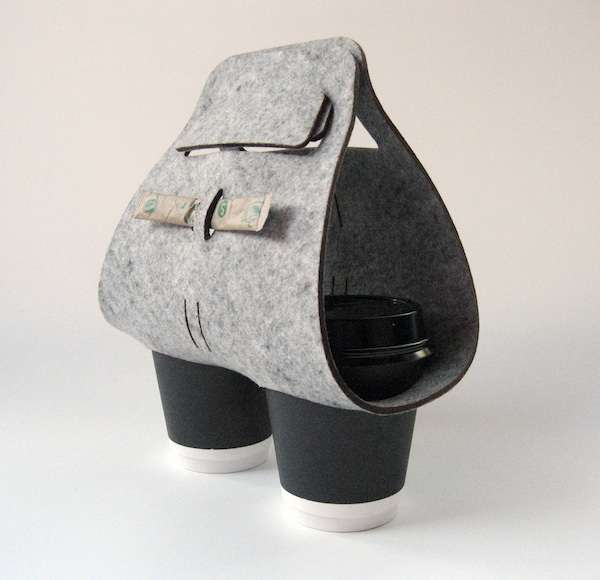 Woolen Java Holders Objectify Tota Coffee Cup Carrier