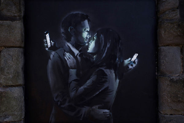 Smartphone Obsession Graffiti
