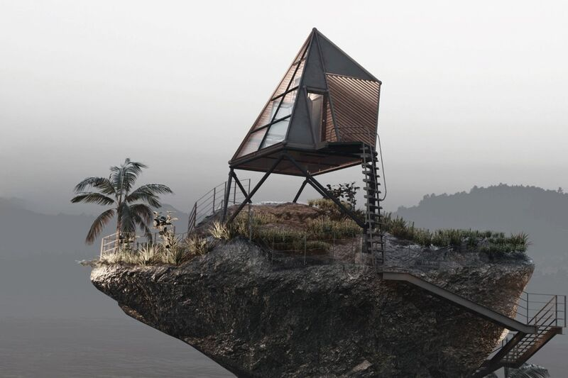 Isolated A-Frame Cabin Designs