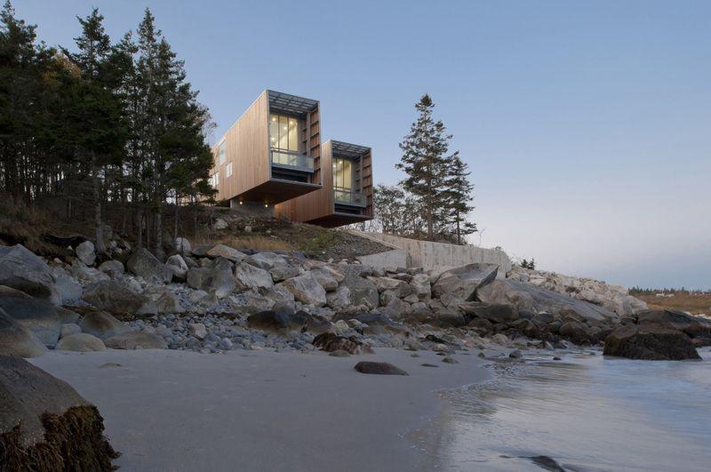 Elongated Oceanside Abodes