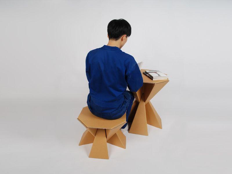 Prismatic Cardboard Furniture